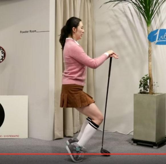 [골프 스트레칭 동영상] 28. 무릎과 발목의 근력을 발달시켜주는 동작