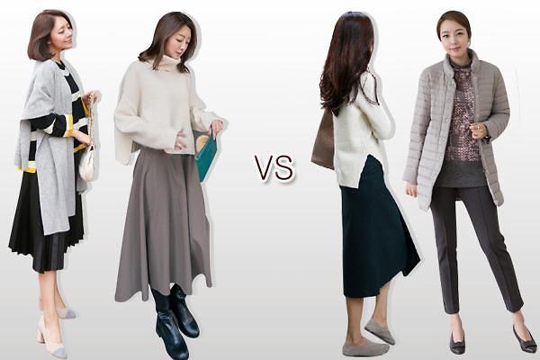 今冬不可错过的韩国时尚元素:百褶裙 超轻羽绒服 马海毛