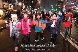.S. Korea creates new history with peaceful candle-lit rallies.