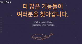 Naver开发手机浏览器Whale下月面世 挑战谷歌霸主地位