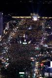 .S. Korean citizens stage candle-lit rallies in festive mood.