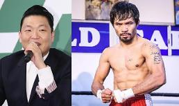.Psy invites Filipino boxing hero Pacquiao to year-end concert.