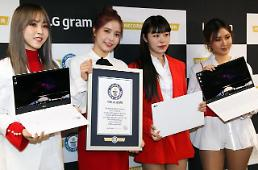 LGs Gram 14 recognized by Guinness as lightest laptop