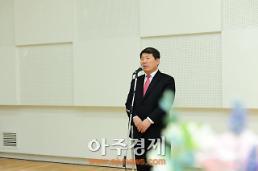 〈포토〉 경기공연예술페스타 축사하는 백경현 구리시장