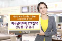 KB국민은행, 원·달러 환율 변동성에 투자 ETF 신탁 3종 출시