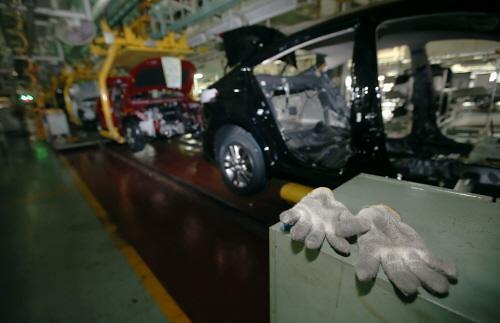 今年以来韩国生产汽车60万辆 创7年来最低水平