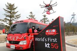 .KT demonstrates S. Koreas first autonomous bus and delivery drone.