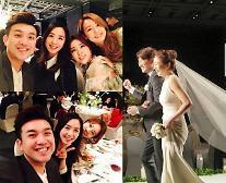 """방송인 이지애, 조우종·정다은 결혼식에 KBS 식구들과 참석…""""친정식구들♥ 축하해요"""""""