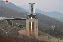 .Pyongyang probably tested new engine for satellite rocket: 38 North.