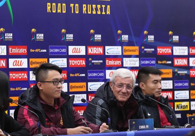 [영상중국] '한중전 앞두고…' 기자회견 하는 중국축구대표팀