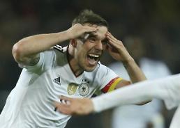포돌스키, 웃으며 은퇴…독일, 잉글랜드에 1-0 승