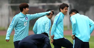 .S. Korea to face China amid tight security in football stadium.