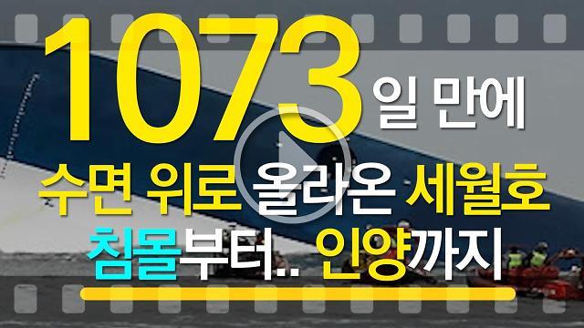 [아잼 이슈]1073일 만에 수면 위로 올라온 세월호 침몰부터 인양까지