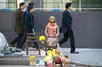 """日本の平和団体、釜山領事館前の少女像訪問して""""日本、慰安婦問題謝罪しなければ"""""""