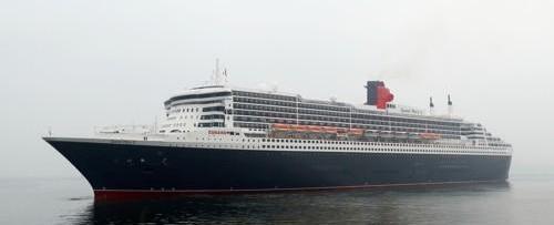 """豪华邮轮""""玛丽皇后2号""""载多国游客抵韩 望填补中国游客空缺"""