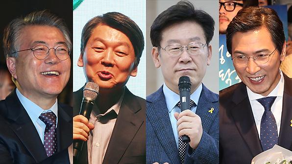<2017年总统大选>[3月31日-4月1日]大选民调:文在寅34.6%安哲秀22.3%安熙正12%