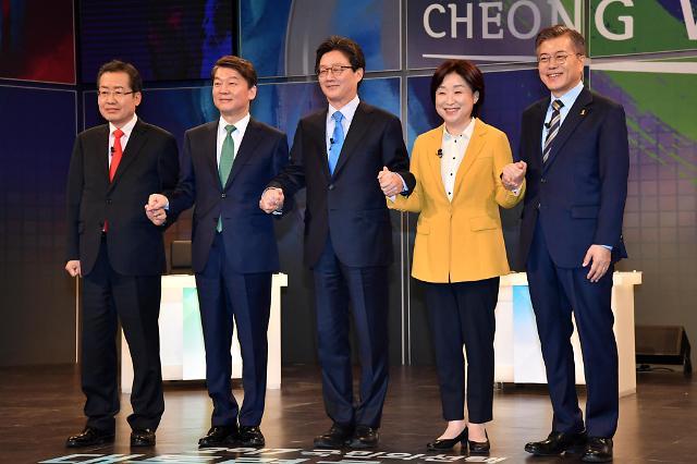 <2017年总统大选>各党总统候选人举行首场电视辩论会