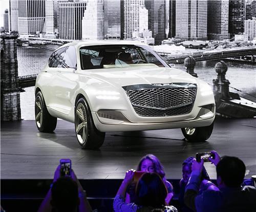 现代捷恩斯氢燃料SUV亮相纽约车展