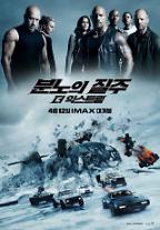 '분노의 질주' 주말 박스오피스 1위…개봉 4일 만에 100만 돌파