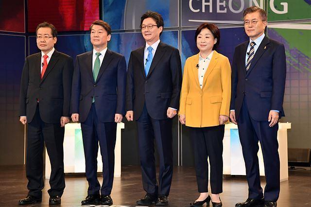 <2017年总统大选>民调:自由韩国党洪准杓反感度居首 文在寅安哲秀分列其后