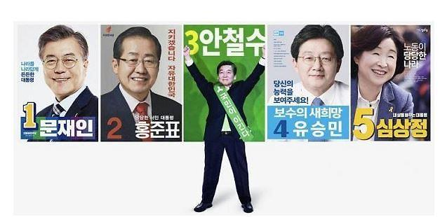<2017年总统大选>总统候选人海报各具特色
