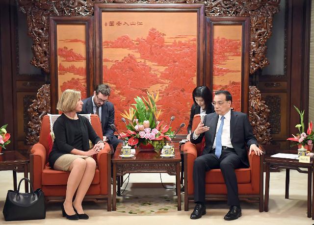 [영상중국] 中-EU 협력 모색...리커창, 모게리니 외교·안보 대표 만나