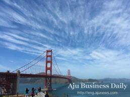 .[AJU PHOTO] Spring sky and Golden Gate Bridge.