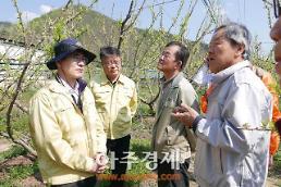 경북도, 청송·영양 우박피해 지역 긴급현장점검 나서