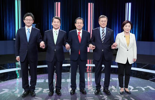 <2017年总统大选>主要候选人第三轮电视辩论 权力机关改革意见存分歧