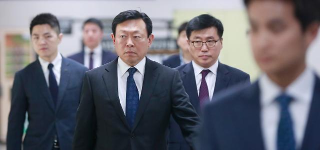 乐天集团会长辛东彬今日出庭受审