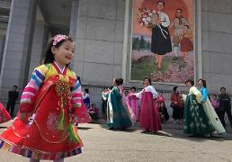 [GLOBAL PHOTO] N. Korean girl take part in mass dance
