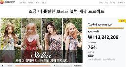 스텔라, 음반제작 프로젝트 1132.4% 달성 '인기 증명'