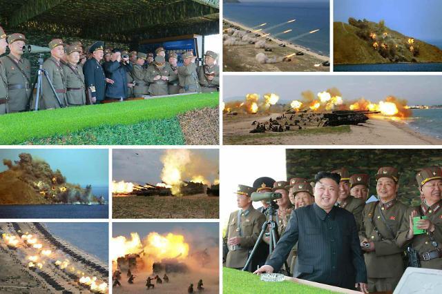 朝鲜举行史上最大规模军种联合打击示威