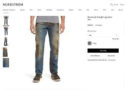 .Fake Muddy Jeans sold for $425 in Nordstrom.