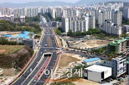 용인시 상현↔광교 지하차도 착공 9년 만에 완공