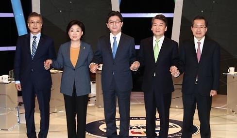 <2017年总统大选>韩大选倒计时8天 文在寅支持率单独领跑