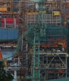 .Work at Samsung shipyard suspended pending probe into rare crane collision.