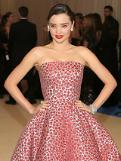 [GLOBAL PHOTO] Miranda Kerr attends to red carpet event for the Metropolitan Museum of Art Costume