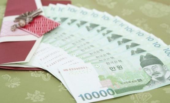 韩国父母节收礼最爱现金 送礼首选钞票