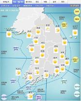 '날씨'전국 맑고 황사로 미세먼지 농도 상승..낮 최고26도