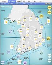 '날씨'전국 구름 많고 경기동부,강원영서 낮까지 비..중부,일시적 미세먼지 '나쁨'