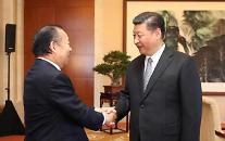 """[영상중국] 시진핑 주석, 日 자민당 간사장과 만남 """"협력해야"""""""
