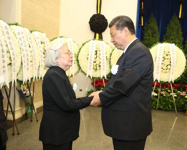 [영상중국] 중국 외교계 큰별 첸치천 영결식…중국 전현직 지도부 총출동