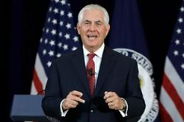 .Tillerson rules out diplomatic backroom deal with Pyongyang.