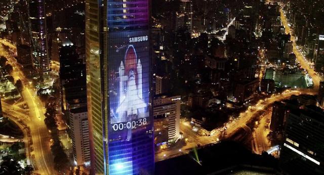 """三星Galaxy S8广告""""现身""""南美最高建筑"""