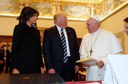 [글로벌 포토] 프란치스코 교황 만난 트럼프 부부