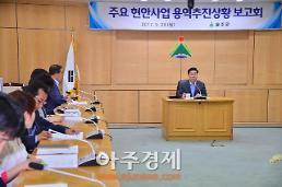 울산 울주군, 주요 현안사업 용역 추진상황 보고회