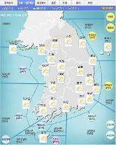 '날씨'아침부터 구름 많아져..낮 최고33도..오존 전국 나쁨..미세먼지 경기북부,강원 '나쁨'
