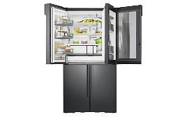 .Samsung introduces high-end freezer  with unique porcelain interior.