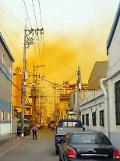 Yellow toxic cloud shrouds port city of Busan